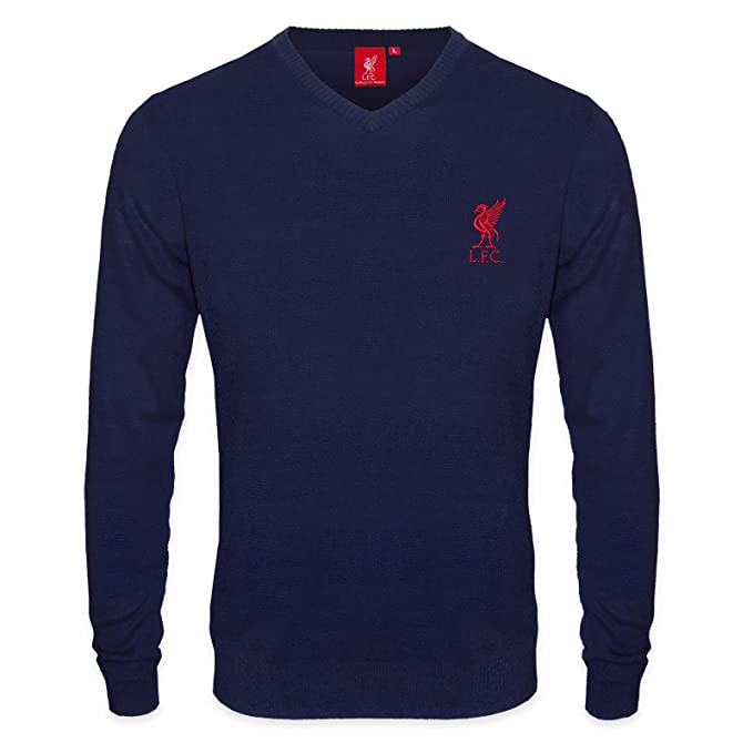Liverpool FC - Jersey de punto con cuello de pico - Para hombre - Con el