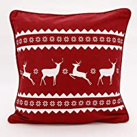 Adams Linens 100% Cotton Printed Christmas Festive XMAS Design Cushion Cover
