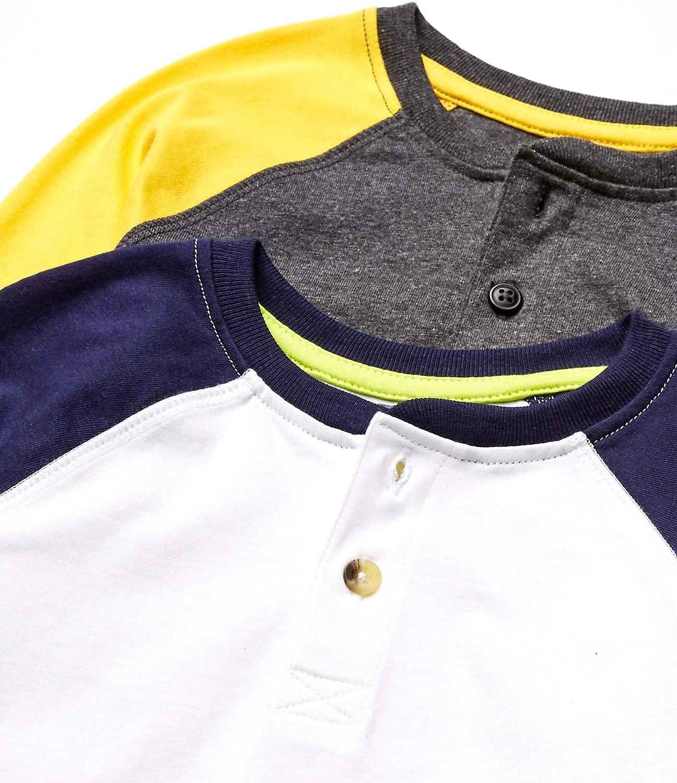 henley-shirts Bambino Marchio Boys 2-pack Long Sleeve Henley Spotted Zebra