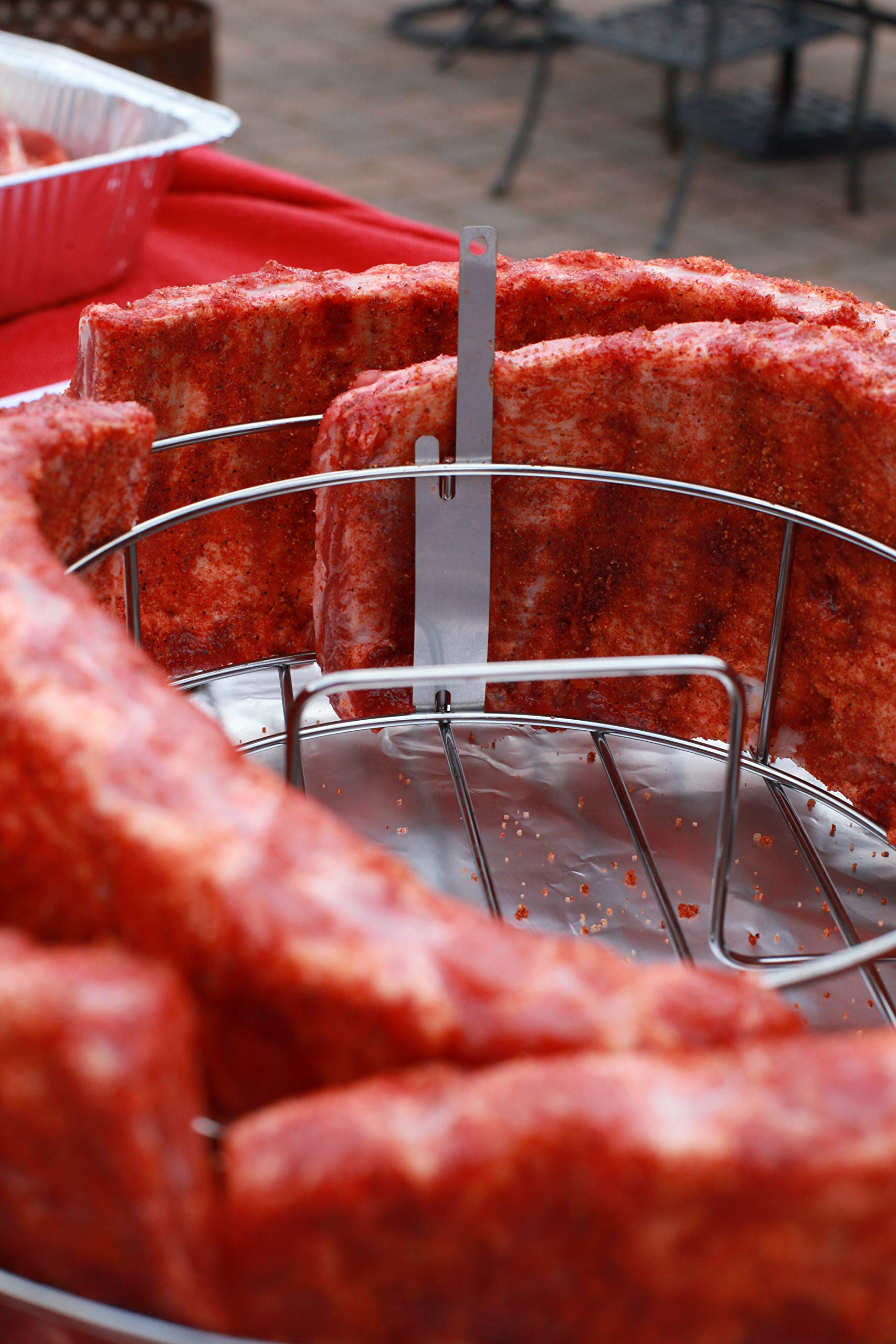 BBQ Guru Rib Rings - Rib Rack and Chicken Roaster for Weber, Green Egg, Kamado Joe, Vision, Grill Dome, Primo Grills and Indoor Ovens by BBQ Guru (Image #5)