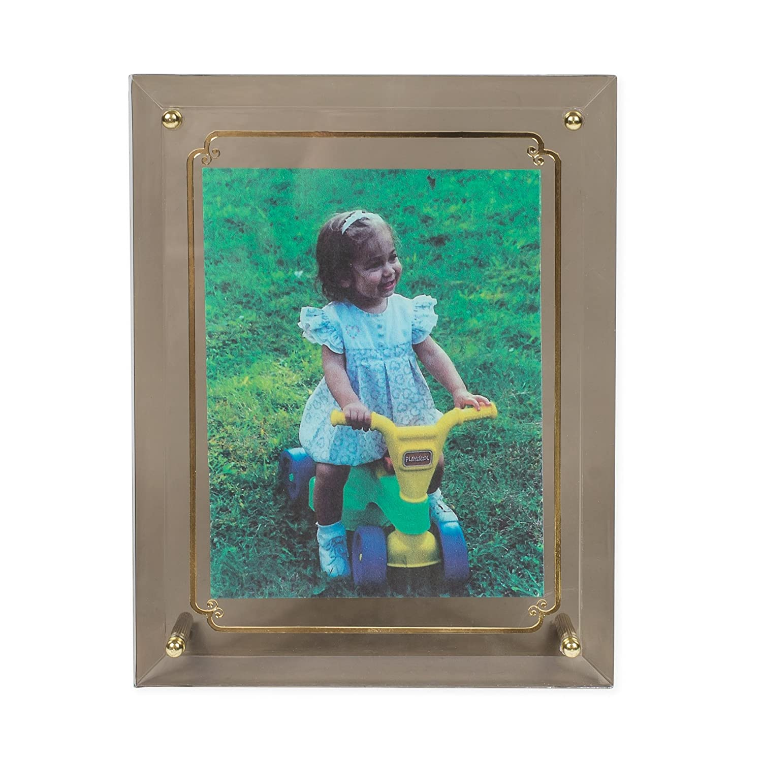 Beveled Edge with Gold Tone Accents Musical Photo Frame Plays Music of the Night