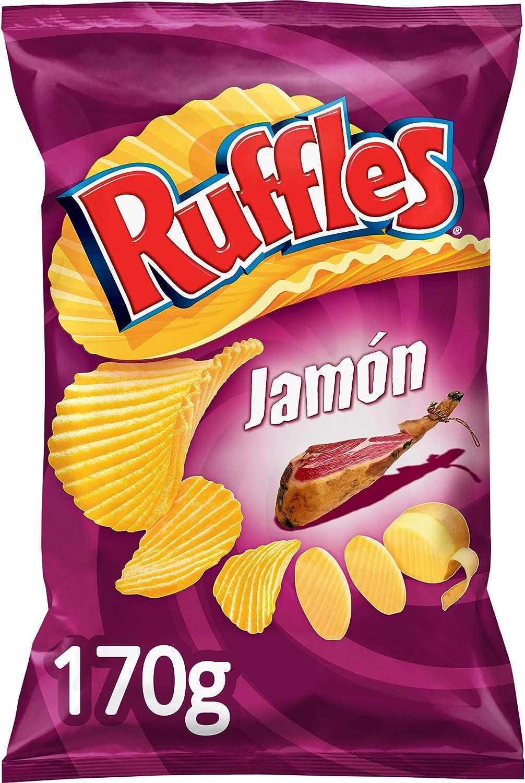 Ruffles - Patatas Fritas con Sabor a Jamón - 170 g: Amazon.es ...
