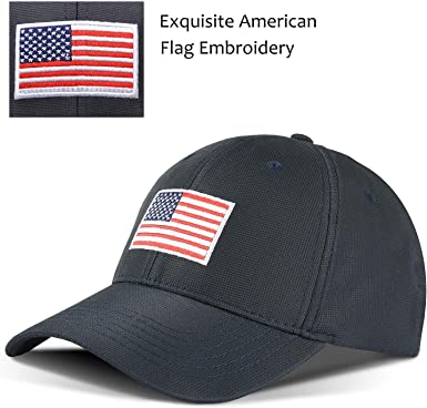 Mens and Womens 100/% Polyester American Flag with Thin Red Stripe Mesh Hat Soft Trucker Mesh Cap for Unisex