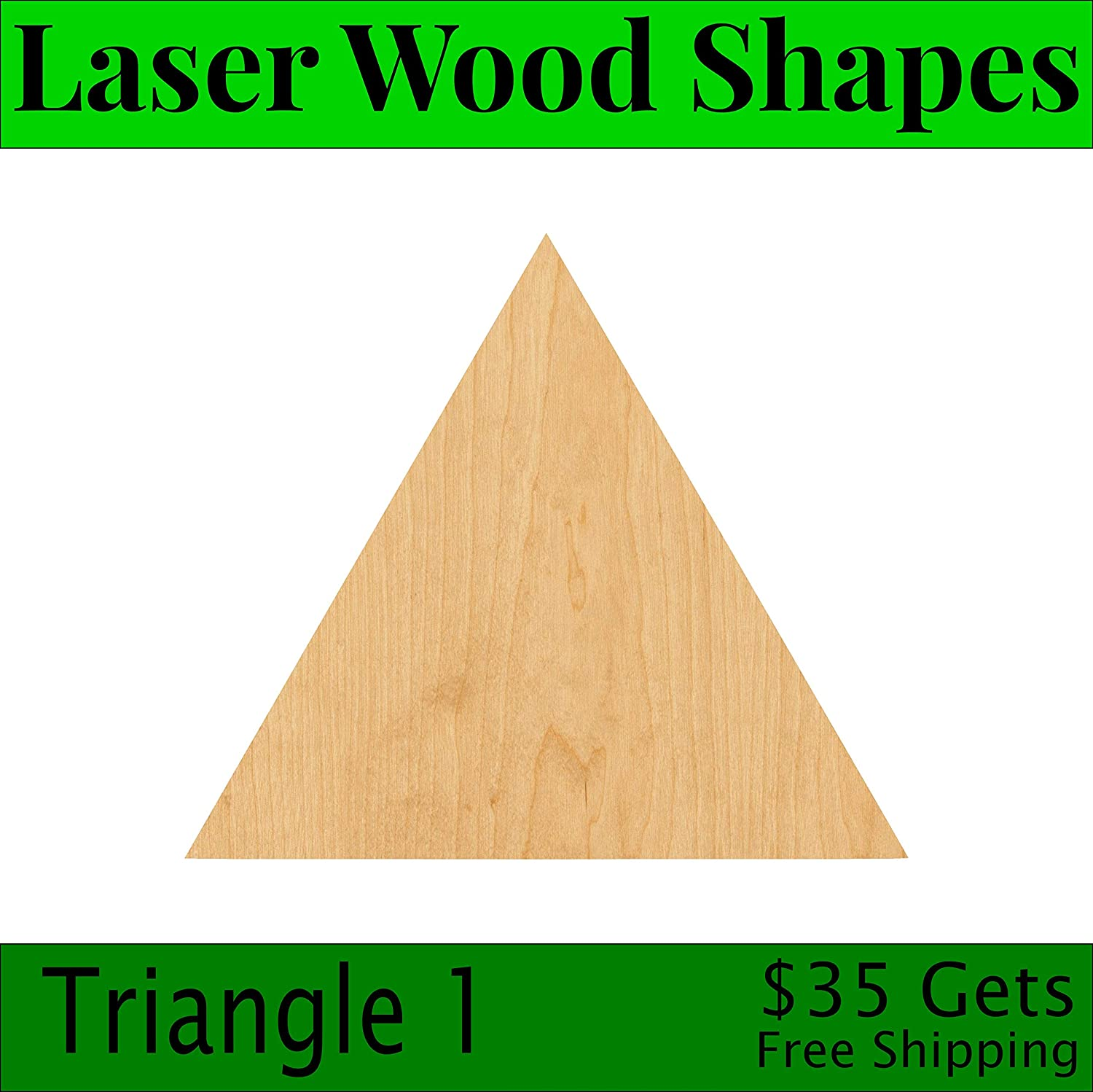 Woodcraft Cutout Triangle 1 Laser Cut Out Wood Shape Craft Supply