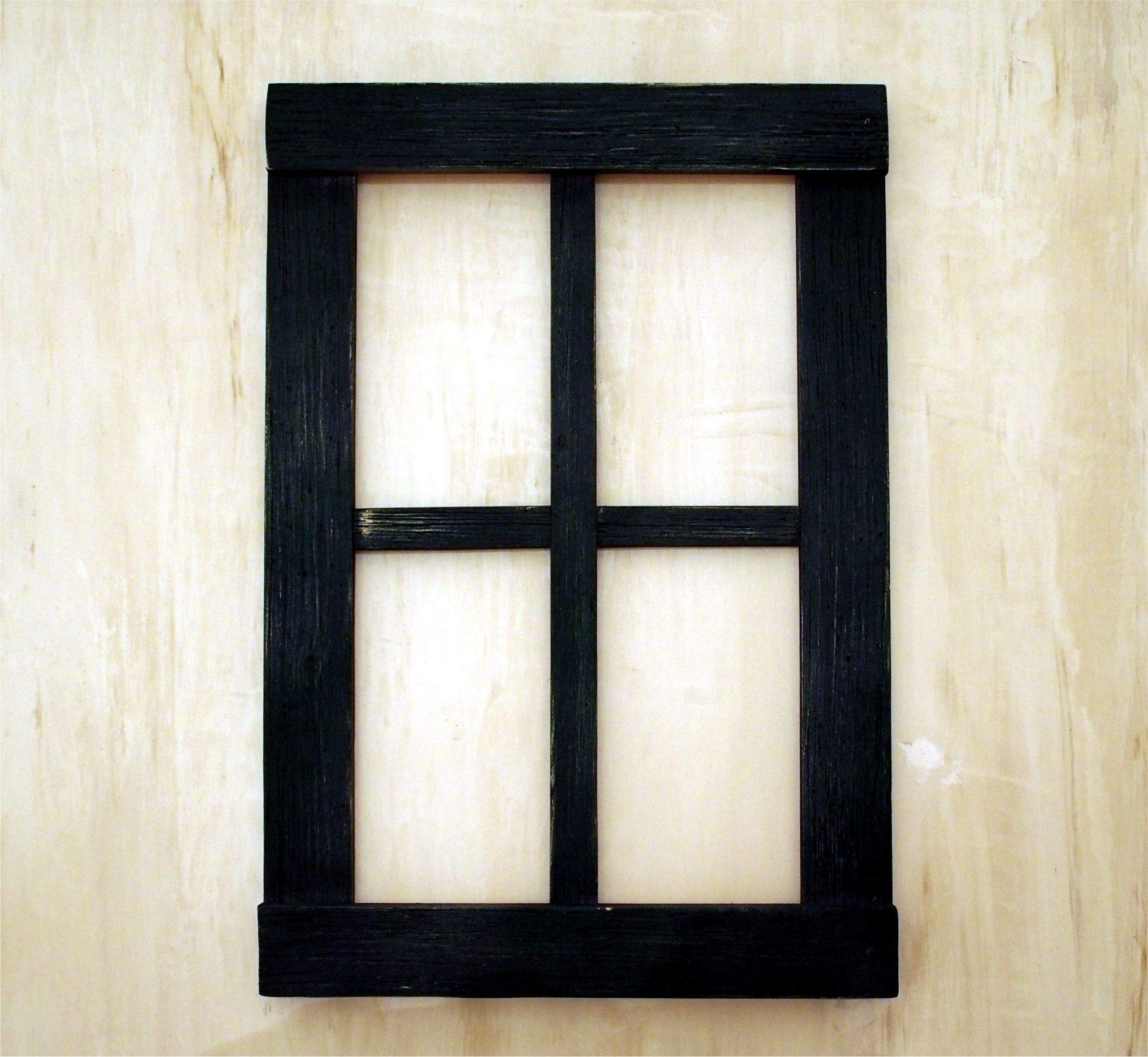 Rustic Home Decor Window Barnwood Frames | Handmade of distressed hardwood in the Color of your Choosing | Farmhouse, Bathroom, Kitchen Wood Wall Decor | Indoor and Outdoor Decoration