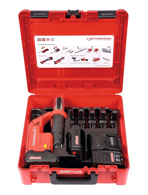 Rot 18 V 36 W Rothenberger 1000002116 Akku-Pressmaschine Romax Compact Twin Turbo Basic Set