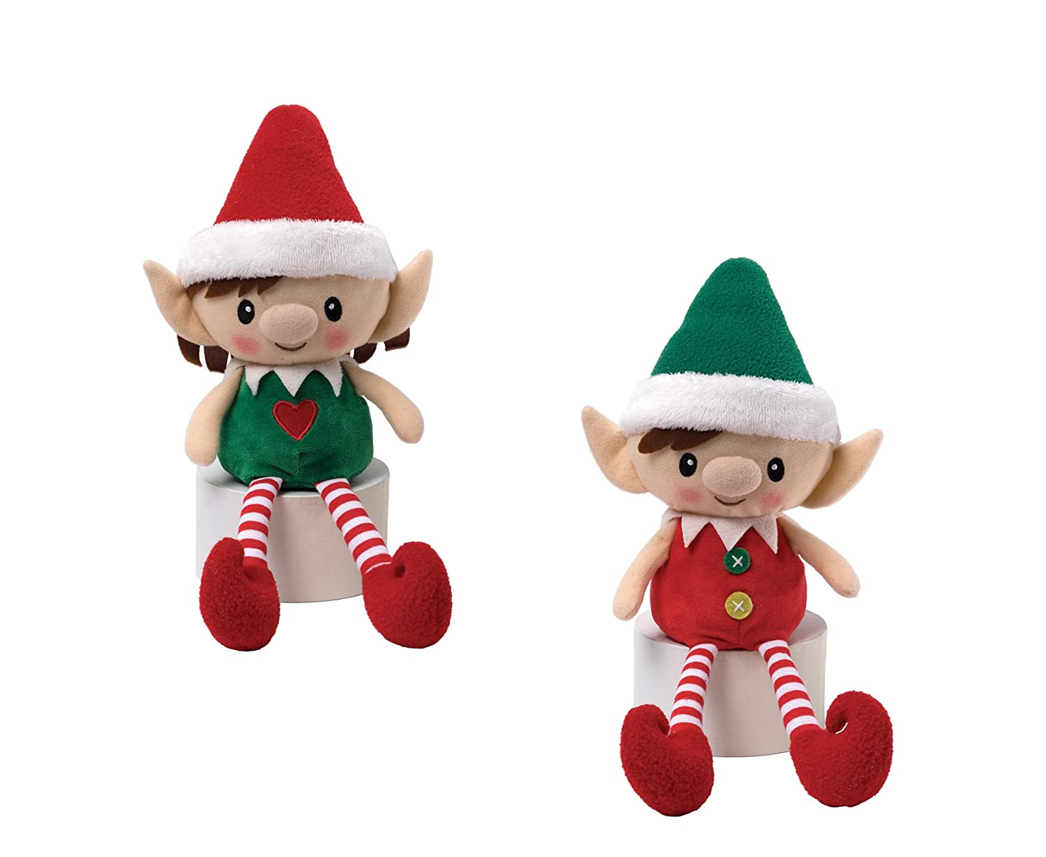 Christmas Peppermint Elves Doll (Boy with Green Hat): Amazon.co.uk ...