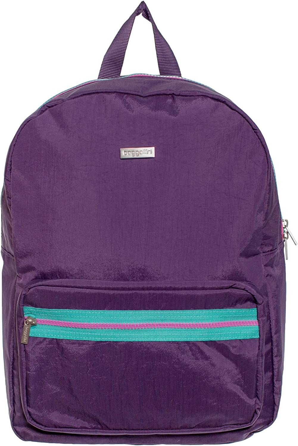 Baggallini Arches Backpack Purple Two pocket with Laptop Compartment Backpack