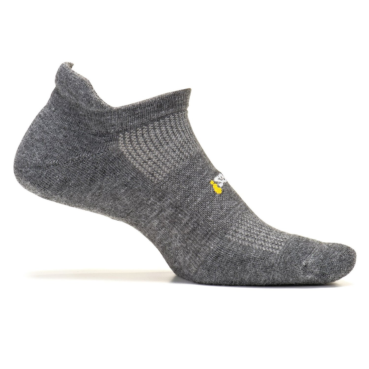 Feetures Unisex High Performance Ultra Light Cushion No Show Tab Socks,Heather Gray, Medium
