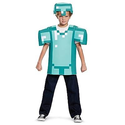 Armor Classic Minecraft Costume, Blue, Medium (7-8): Disguise: Toys & Games
