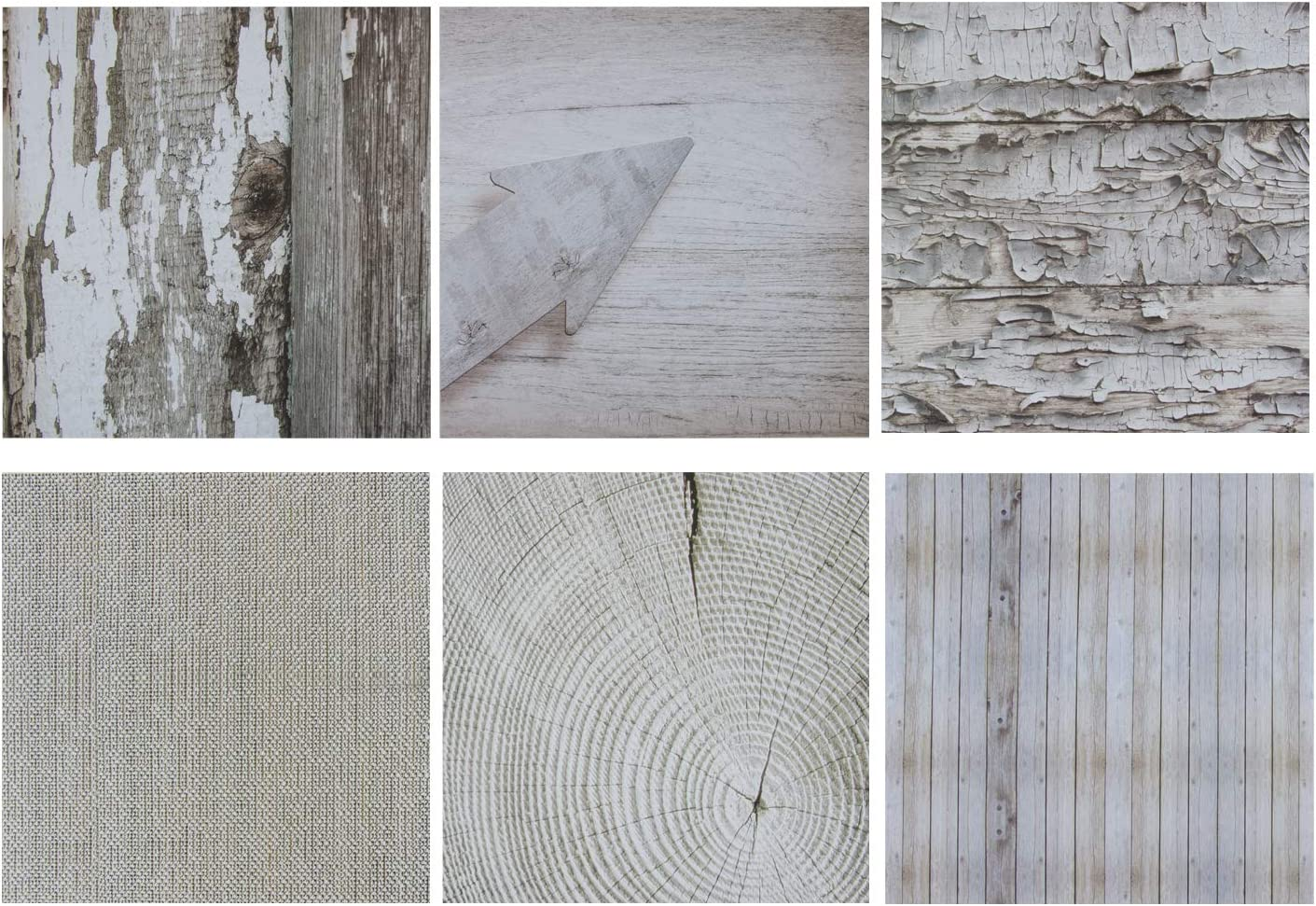 Sustainable Greetings Rustic Wood Scrapbook Paper, 6 Designs (12 x 12 Inches, 48 Sheets)