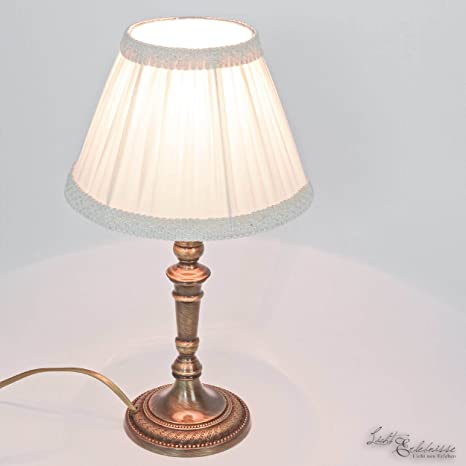Premium lámpara de mesa de latón bronce E14 hasta 60 W 230 V ...