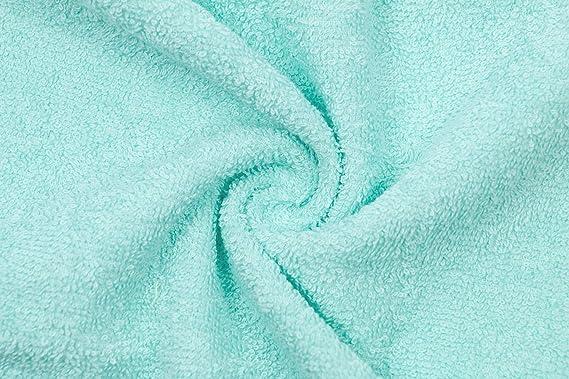 ZOLLNER Lot de 10 Serviettes dinvit/é 30x50 cm Turquoise