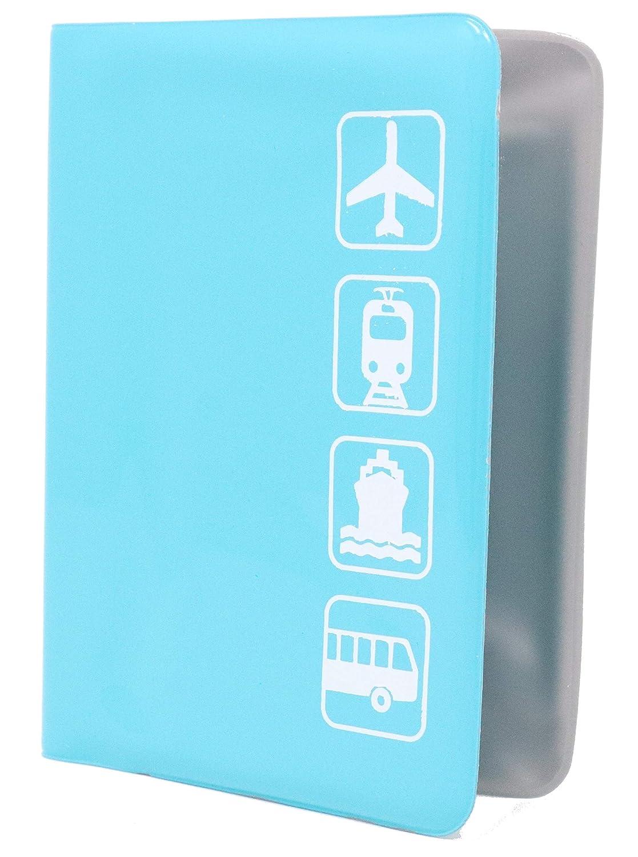 Reisepasshülle mit 3 Fächern für Ihren Reisepass Personalausweis und andere Reisedokumente Farbe: Blau Bahia Vista
