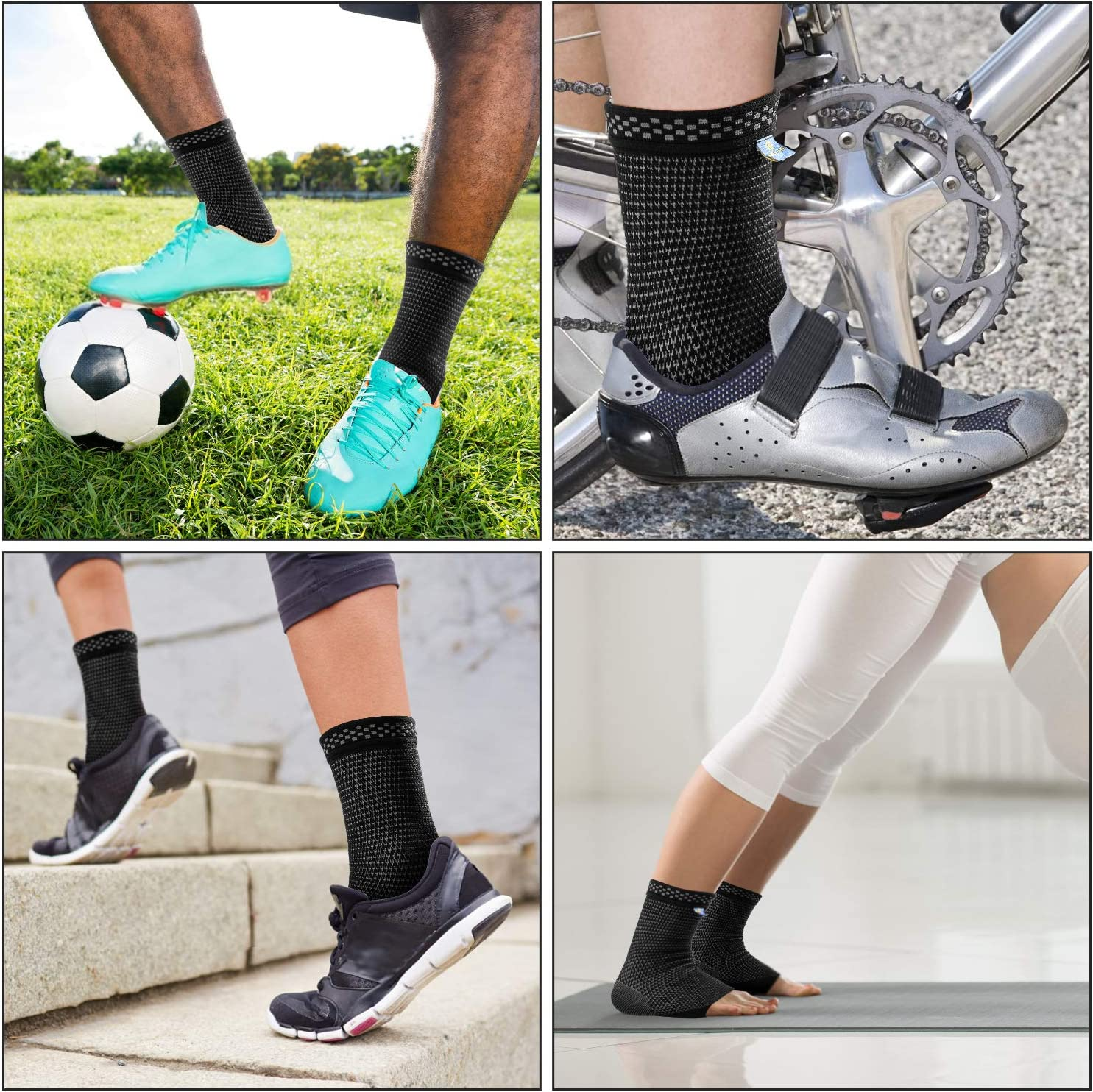 New Medical Compression Technology Ankle Sleeve Socks for Plantar Fasciitis Pain Relief and Achilles Tendonitis Treatment.Foot Support for Reduce Swelling Recovery Ankle Pain,Ankle Brace for Men/&Women