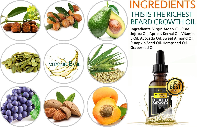 Amazon Com 2 Pack Premium Beard Growth Oil Advanced Beard Leave