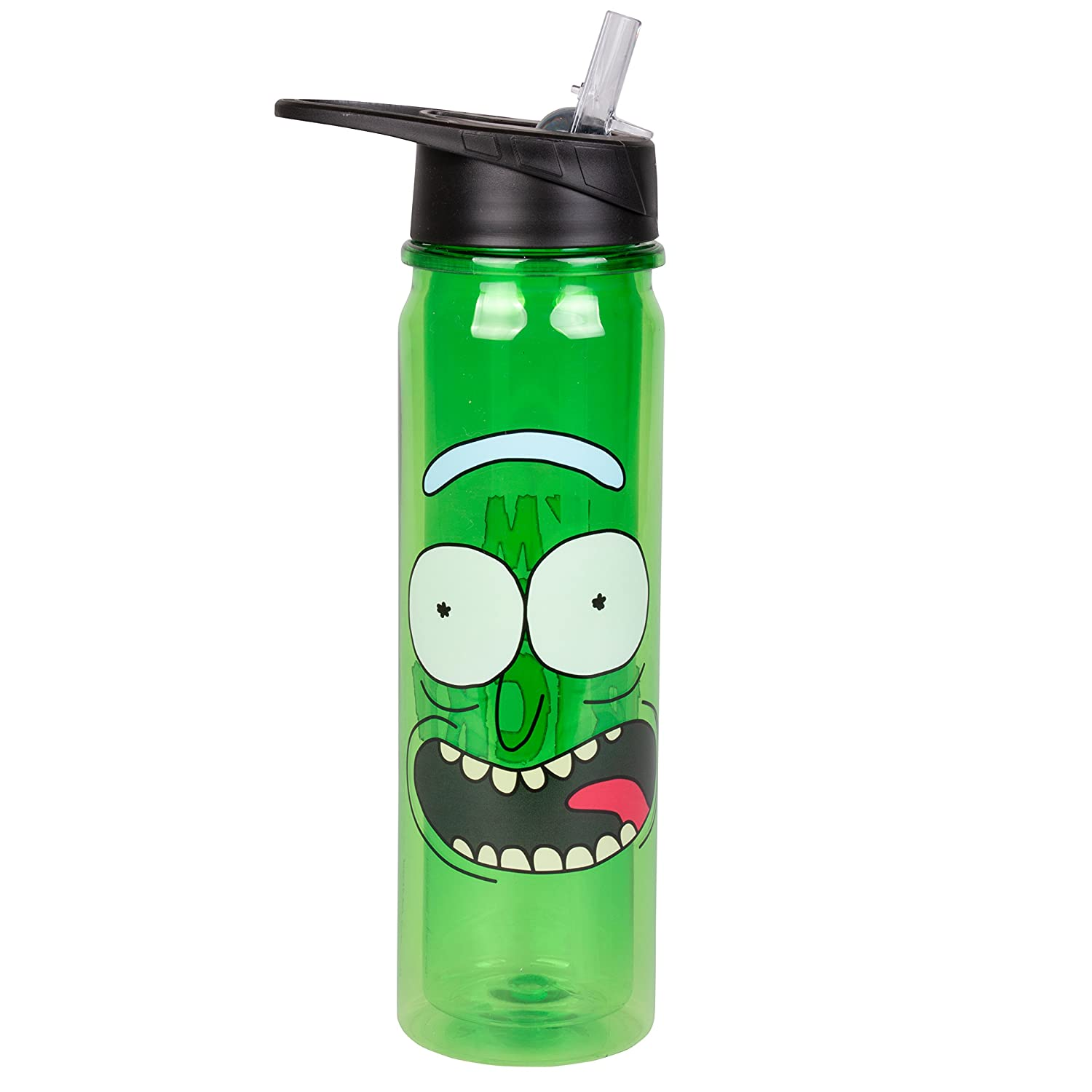 SCS Direct Rick and Morty Plastic Sports Water Bottle with Flip Top Lid I'm Pickle Rick 18 oz