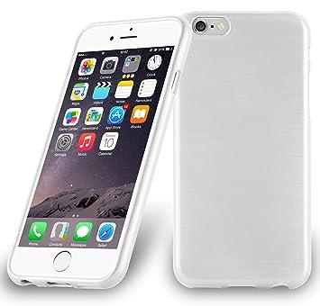 Cadorabo de de 104832 Apple iPhone 6/iPhone 6S (4.7) Funda Carcasa de TPU Silicona en Aspecto Acero Inoxidable Cepillado (Pulido), Color Plateado