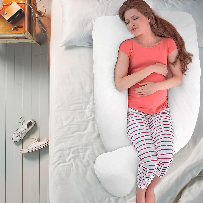 chuckle XXL Almohada de Maternidad y Embarazo 3,7m, 12 ft 100/% Algod/ón Hipoalerg/énico| Alivia el Dolor de Espalda| +Lavable Funda de Almohada - Almohada corporales de Soporte en Forma de U