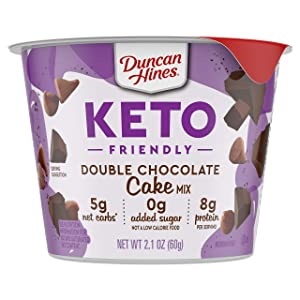 Duncan Hines Keto Friendly Cake Cups Double Chocolate Cake Mix, 2.1 Oz
