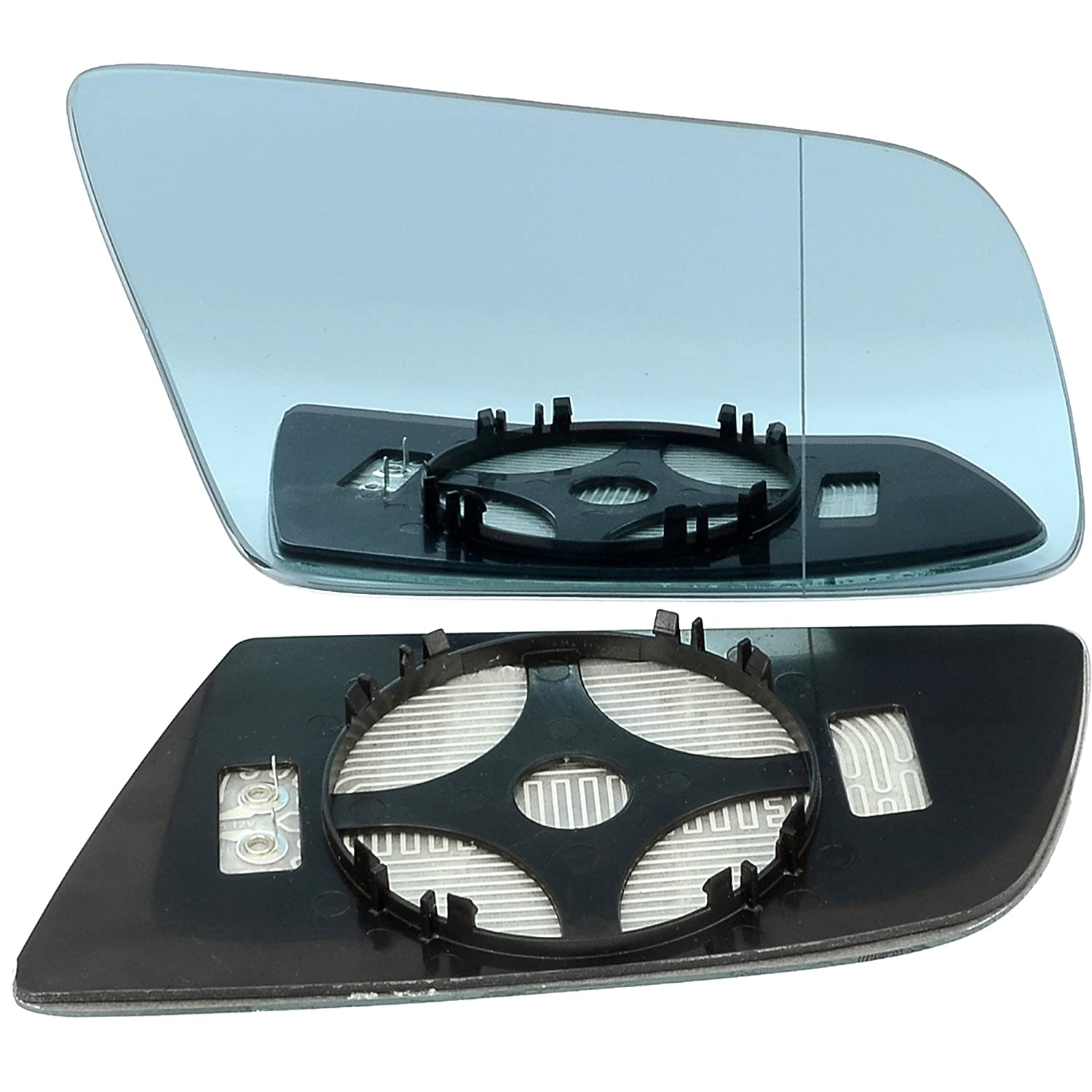 Right driver side wing door clip on mirror glass Wide Angle Heat Less4Spares
