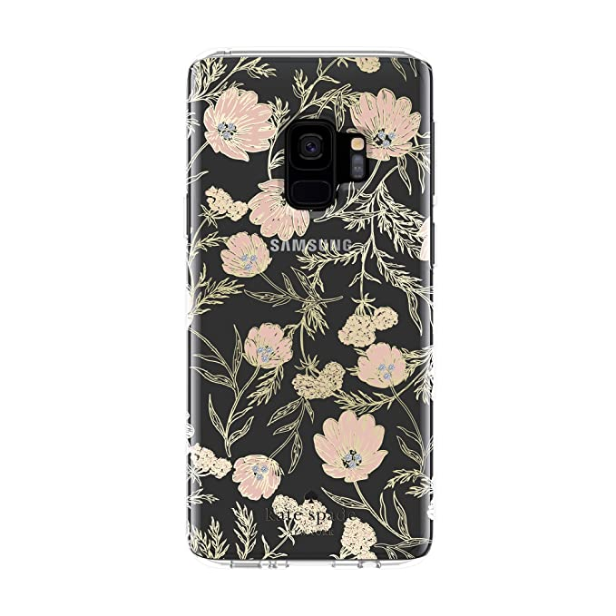 promo code 441ef 21705 kate spade new york Protective Hardshell Case for Samsung Galaxy S9 - Multi  Blossom Pink / Clear / Gold with Stones