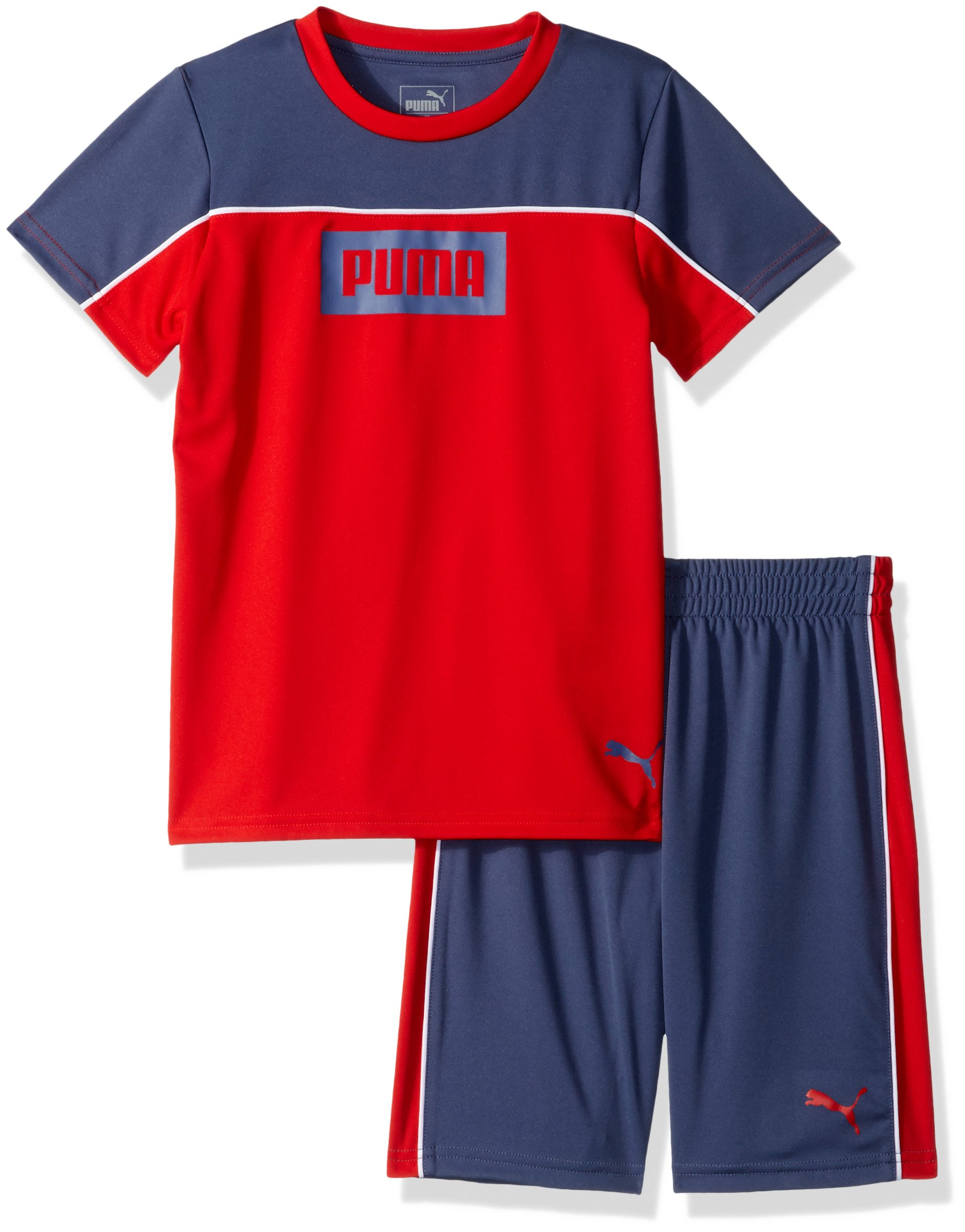 PUMA Toddler Boys' Rebel 2 Piece Set, Flame Scarlet, 4T by PUMA