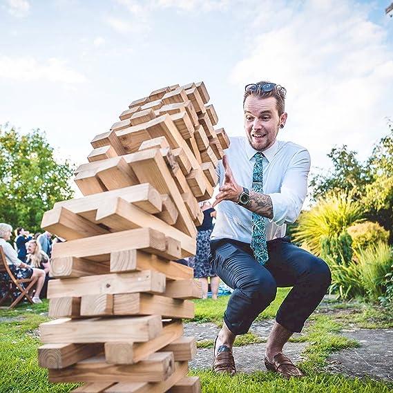 Legit Sports - Juego de Bloques apilables de tamaño Grande para Todo el Mundo, Incluye Bloques de Madera Grandes apilables, diversión en el Patio al Aire Libre en la Puerta: Amazon.es: Juguetes