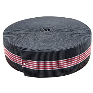 "PBNICE Sofa Elastic Webbing Stretch Latex Band Furniture Repair DIY Upholstery Modification Elasbelt Chair Couch Material Replacement Stretchy Spring Alternative TWO Inch 2"" Wide x Forty Ft 40"" Roll"