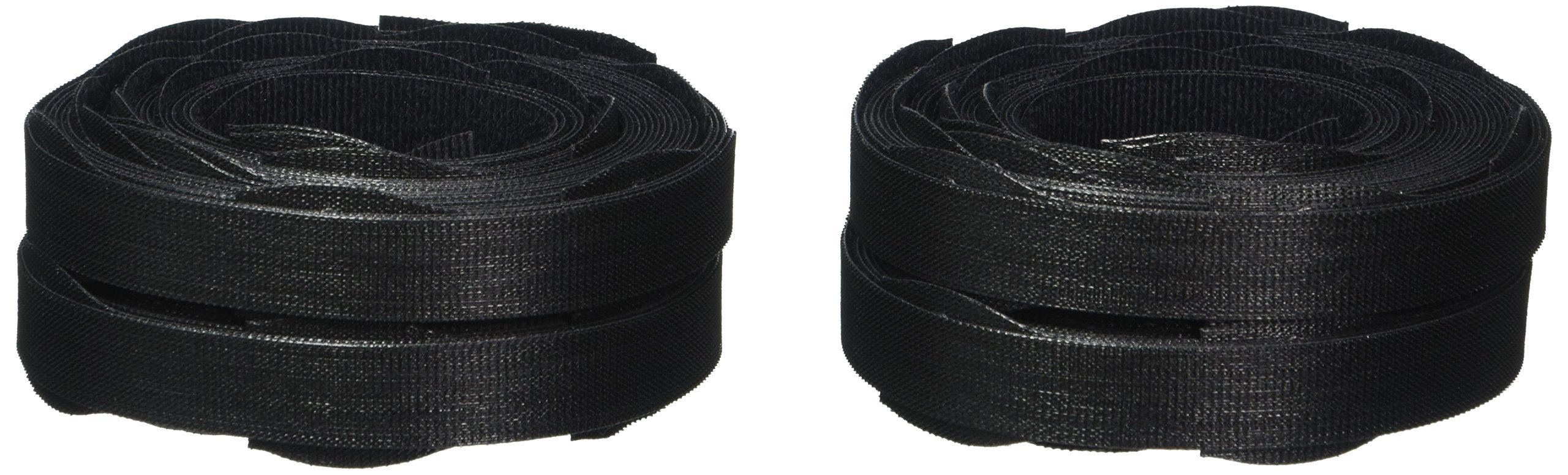 Velcro Reusable Self-Gripping Cable Ties, 0.5 Inches x 8 Inches Long, Black, 100 Ties per Pack (91140) 6 Pack
