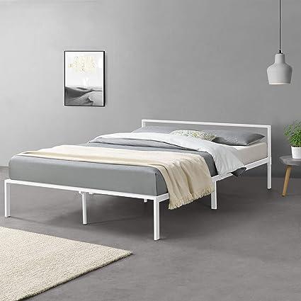en.casa] Cama de Metal con Somier Minimalista 160 x 200 cm ...