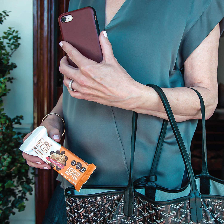 Kiss My Keto Snacks Keto Bars - Keto Chocolate Peanut Butter, Nutritional Keto Food Bars, Paleo, Low Carb/Glycemic Keto Friendly Foods, All Natural On-The-Go Snacks, Quality Fat Bars 3g Net Carbs by Kiss My Keto (Image #7)