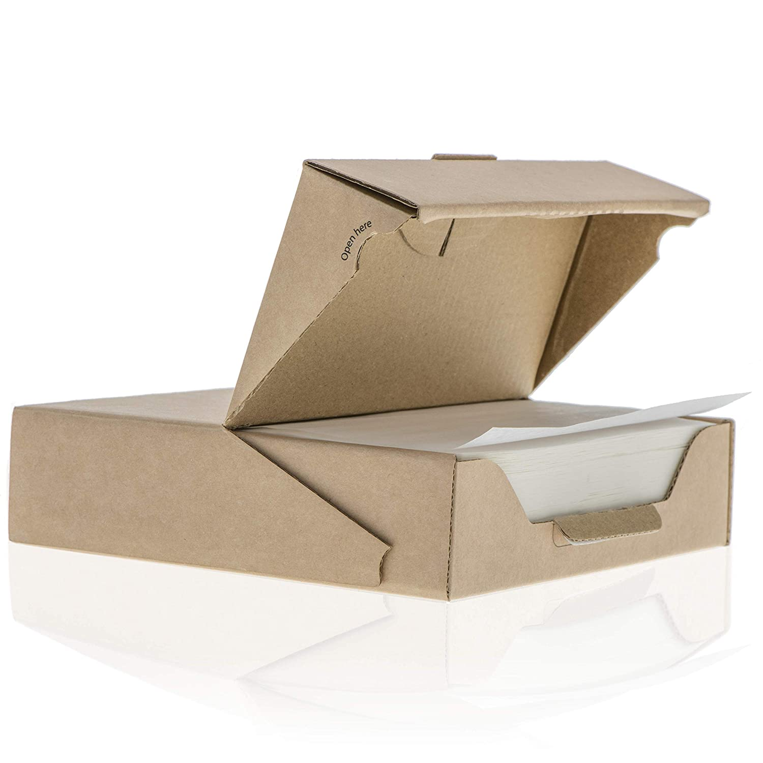 ZeZaZu Parchment Paper Squares - 5.5 x 5.5 inches (500 sheets) - MADE IN EUROPE - for Baking, Hamburger | Dual-Sided Coating, Non-stick, Siliconized, Convenient Recyclable Dispenser Box