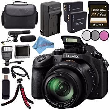 Amazon.com: Panasonic Lumix DMC-FZ1000 Digital Camera + ...