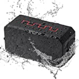Waterproof Bluetooth Speakers - IP67 Portable Outdoor Wireless Shower Speakers for Phone, with 10W 3000mAh Power Bank, Built-in Microphone and Support TF Card, AUX Line-In
