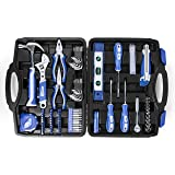 Hyperikon Household Tool Set 102-Piece, Home Repair Tool Kit for Apartment, Office, Dorm, DIY Projects, Homeowner Tool Set with Adjustable Wrench, Level, Flash Light, Storage Case