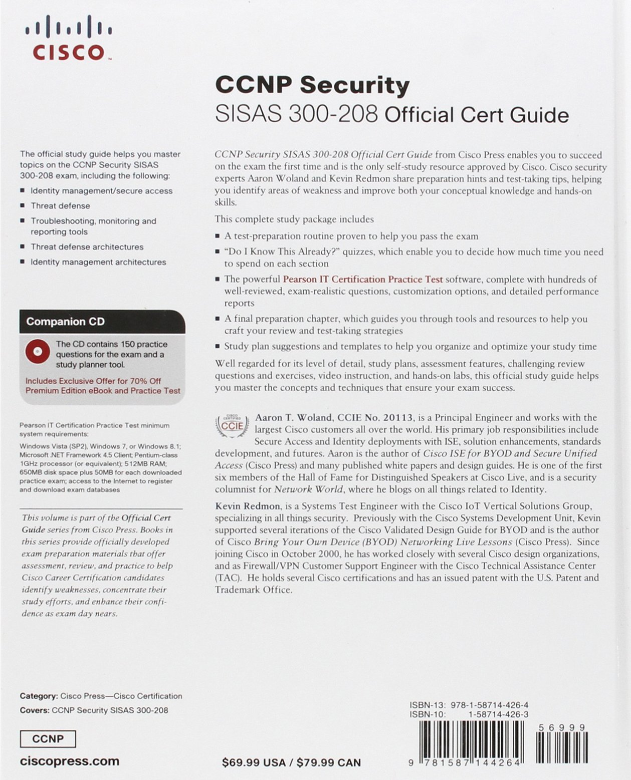 Buy Ccnp Security Sisas 300 208 Official Cert Guide Certification