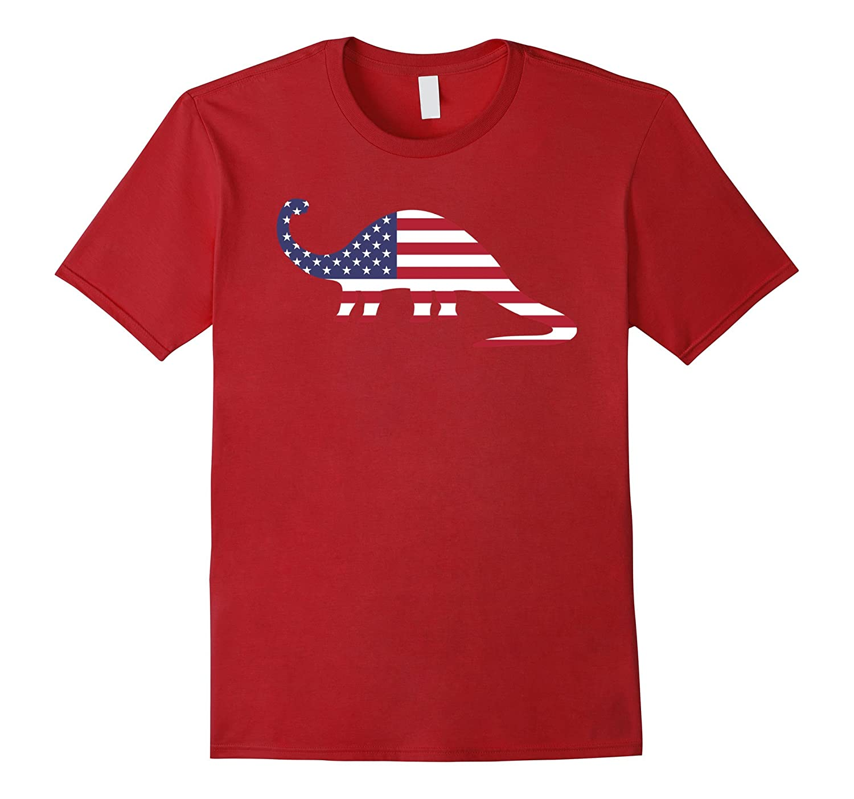 Dinosaur American Flag T-Shirt-PL
