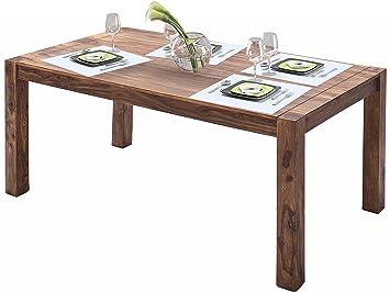 MONALISA Tisch Esstisch Esszimmer Küche 160x90 Cm Massivholz Sheesham Braun