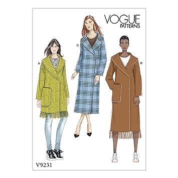 Vogue Mustern 9231 ZZ Schnittmuster Fell Schnittmuster, mehrfarbig ...