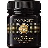 Manukora UMF 20+/MGO 830+ Raw Mānuka Honey (250g/8.8oz) Authentic Non-GMO New Zealand Honey, UMF & MGO Certified, Traceable f