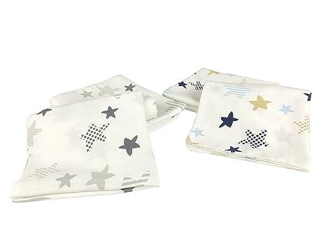 6 unidades de estrellas de Gasas | para Vómitos Toallas 100% algodón, 80 x