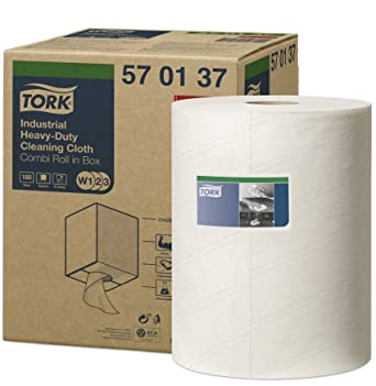 Tork 570137 Paño de limpieza industrial ultrarresistente Premium / 1 capa/Papel multiuso compatible con