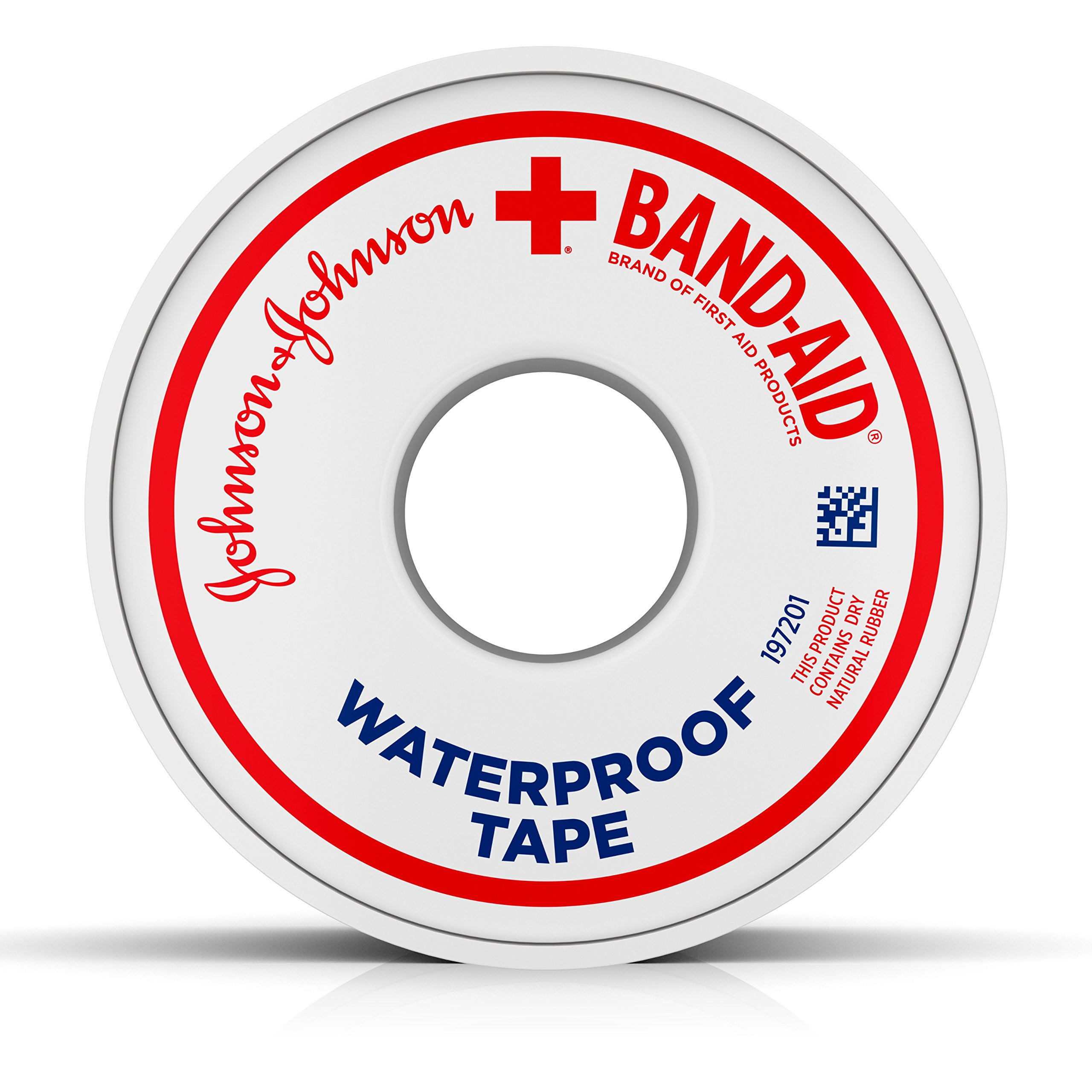 Band-Aid Brand Of First Aid Products Waterproof Tape, 1 Inch By 10 Yards (Pack of 6)