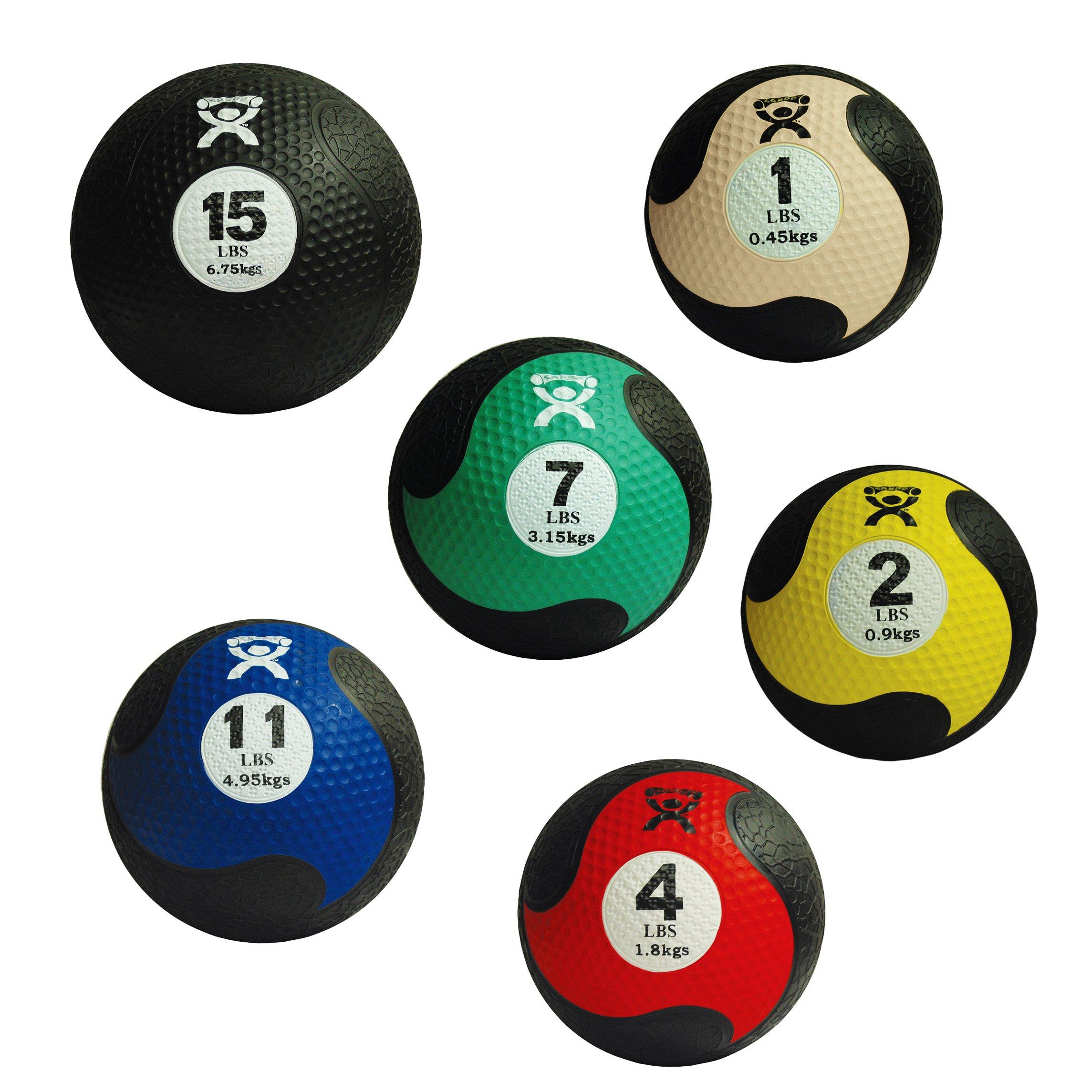 Cando Firm Fitness Medicine Balls - 6-Piece Bundle - 1 Each: 1, 2, 4, 7, 11, 15 LB by Cando (Image #1)