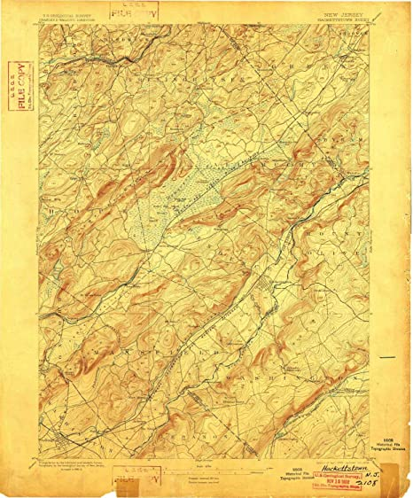 Amazon com : YellowMaps Hackettstown NJ topo map, 1:62500