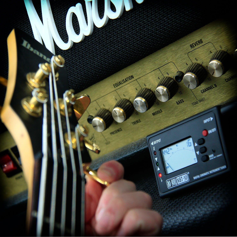 Afinador cromático para guitarra, acústica, eléctrica, bajo, mandolina, ukelele, violín, banjo, violonchelo, arpa, saxofón: Amazon.es: Instrumentos ...