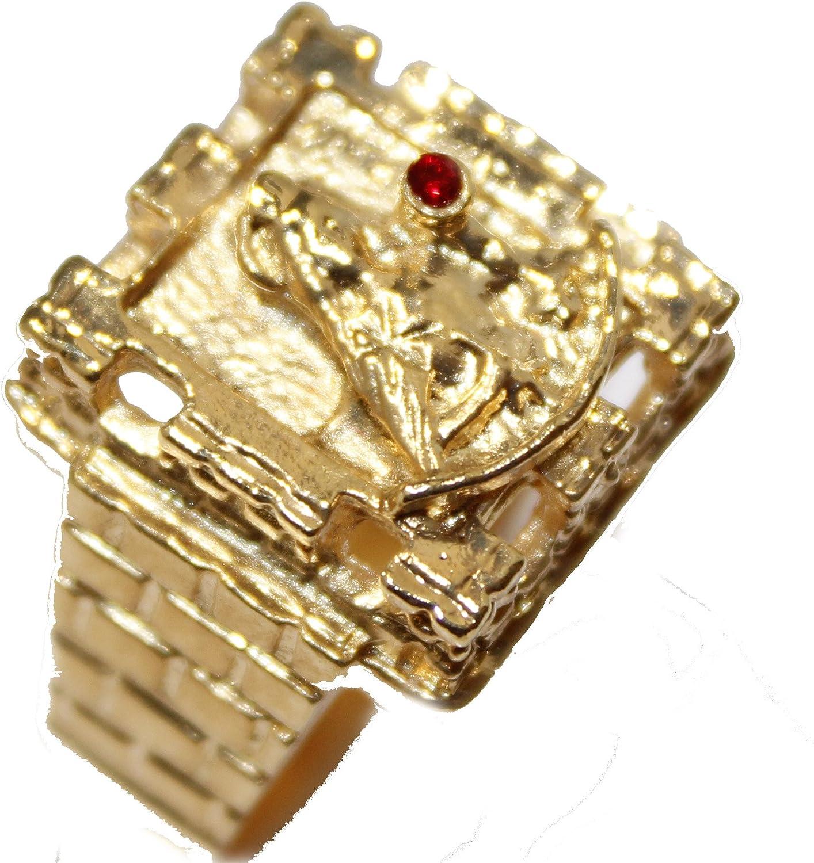 Diamantados of Fla Santa Barbara Ring 18k Gold Plated Ring Santa Barbara with Tower Ring Size 12