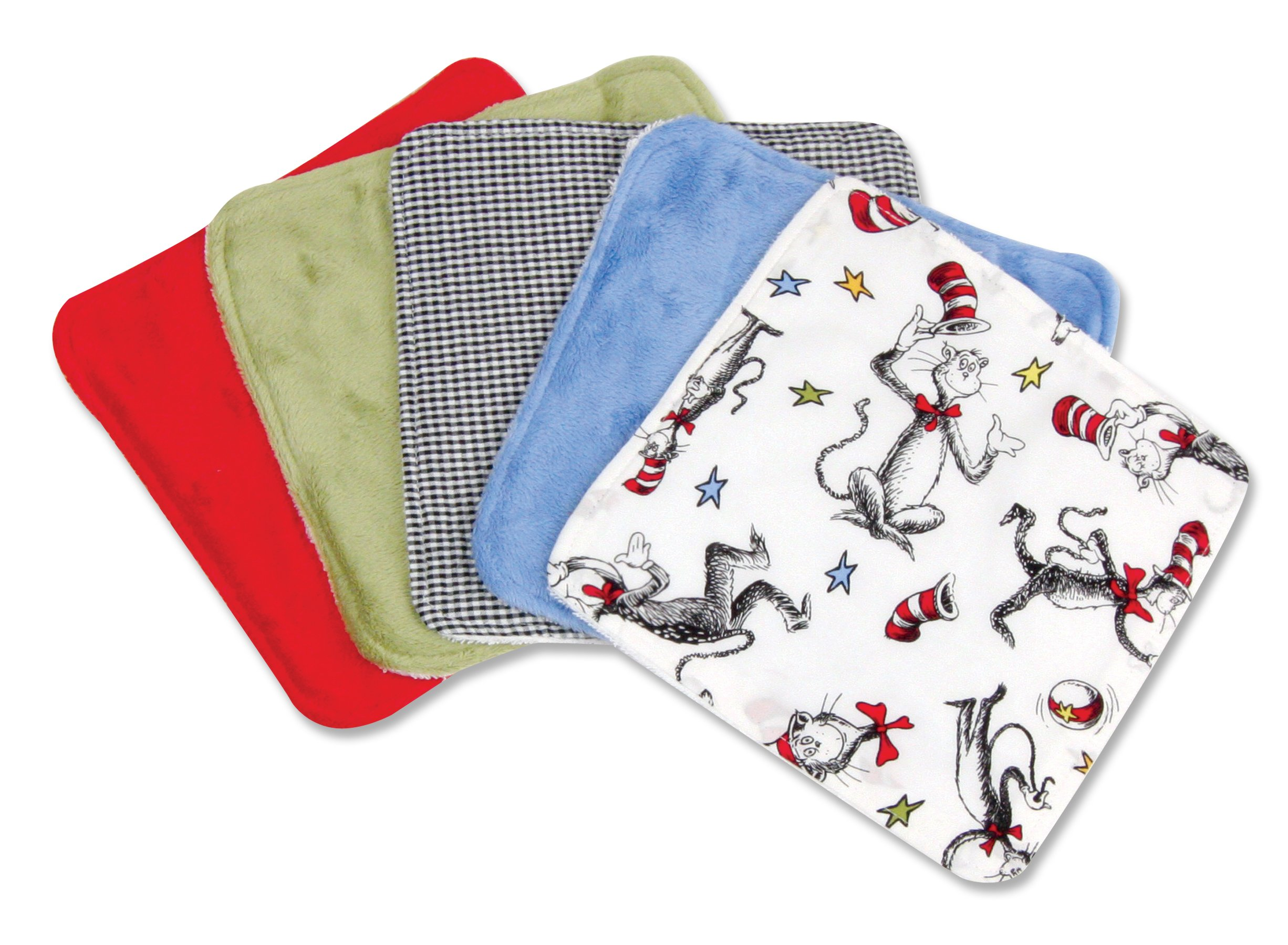 Trend Lab Wash Cloth Set, Dr Seuss Cat in the Hat