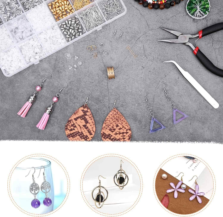 Earring Backs Posts Anezus 2320Pcs Earring Making Supplies Kit with Earring Hooks Findings Earring Making Kit Jump Rings for Jewelry Making Supplies